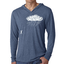 cloud, rain, storm, slingshot, hoody, long sleeve, hoodie, unisex, screen print, silk screen, san diego, vintage, tri-blend, circles and squares, silhouette, play, boy, girl, metaphor, swing, David Cuzick