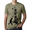 LIFTED on light olive- 100% cotton
