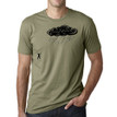 RETURN FIRE on light olive - 100% cotton