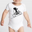 FASTER FASTER girl on 100% cotton onesie