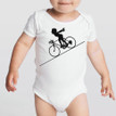 FASTER FASTER on 100% cotton onesie