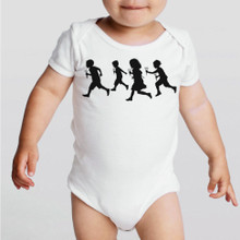 RUNNING WITH SCISSORS -hand screen printed cotton onesie