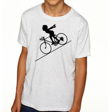 FASTER FASTER (boy) on kids tri-blend on heather white