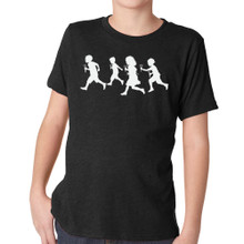 RUNNING WITH SCISSORS kids tri-blend on vintage black