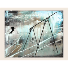 JUMP - girl version. Fine art giclee print