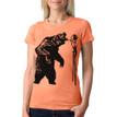 Fierce On Stilts - vintage light orange  tri-blend shirt with black ink