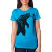 Fierce On Stilts - royal blue  tri-blend shirt with black ink