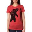 Fierce On Stilts - vintage red tri-blend shirt with black ink