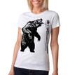 Fierce On Stilts - vintage white tri-blend shirt with black ink