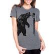 Fierce On Stilts - heather grey  tri-blend shirt with black ink
