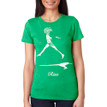 RISE on women's vintage green tri-blend with white ink