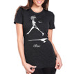 RISE on women's vintage black tri-blend with white ink