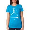 RISE on women's vintage turquoise tri-blend with white ink