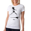 RISE on women's vintage white tri-blend with black ink