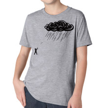RETURN FIRE on heather grey tri-blend for kids
