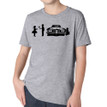 SHY on heather grey kids tri-blend shirt