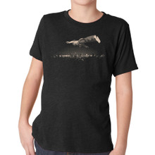 FLYING DREAM on kids vintage black tri-blend