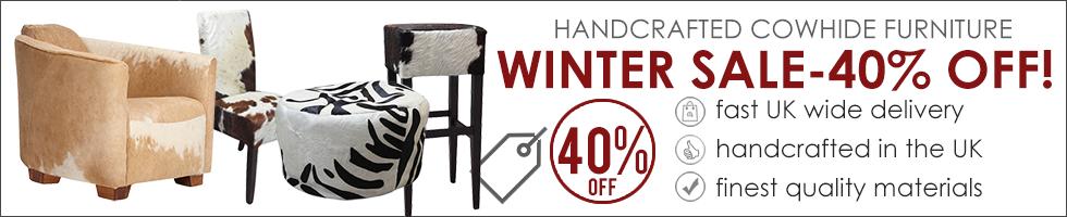 Cowhide Furniture Winter Sale