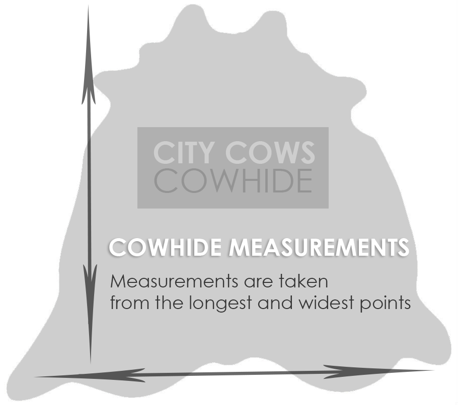 cowhide measurements