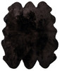 Chocolate brown sexto sheepskin rug