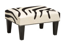 Tri Colour Cowhide Footstool 2ft x 1.5ft