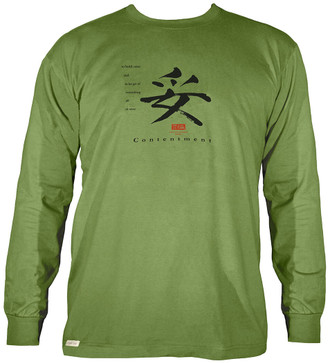 Men's Organic Cotton Long Sleeve Calligraphy