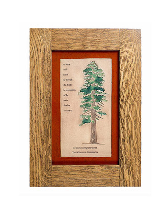 Tree Design Solid Oak Craftsman Style Frame Tiles