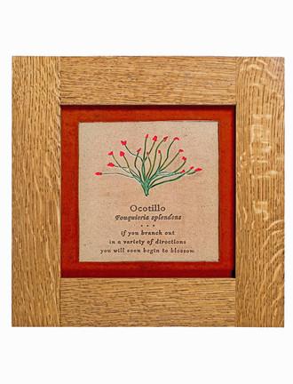 Wildflower Solid Oak Craftsman Style Frame Tiles