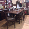 Solid Oak Rustic Canyon Pub Table with 4 Stools