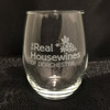 Custom Etched The Real Housewines Of [CITY/TOWN] Glasses Set of 4