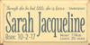 CUSTOM Sarah Jacqueline 9x18