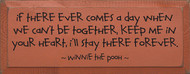 If There Ever Comes A Day When We Can't Be Together... - Winnie the Pooh Wood Sign
