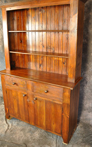 Reclaimed Wood Stepback Hutch with 2 Drawers & 2 Doors