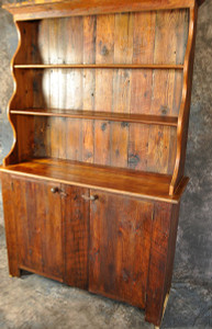 Reclaimed Wood Pewter Hutch