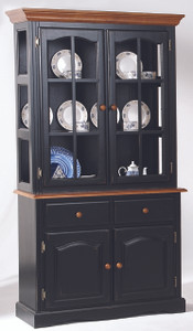 "40"" Traditional Hutch Black and Cherry"