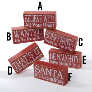 Wooden Christmas Sign Tablepieces