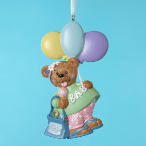 Baby Mom Bear Personalized Ornament