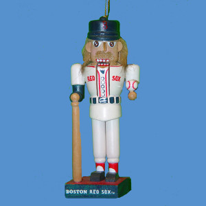 Red Sox Baseball Nutcracker Ornament