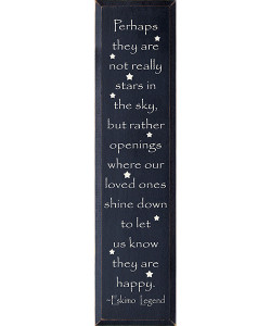 Perhaps They Are Not Stars In The Sky But Rather... - Eskimo Legend Wood Sign
