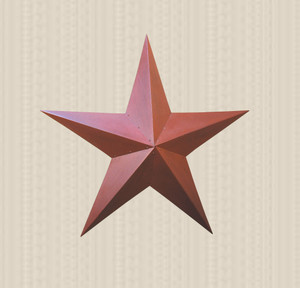 "36"" Burgundy Metal Barn Star"