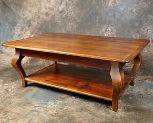 Cabriole Leg Coffee Table With Shelf