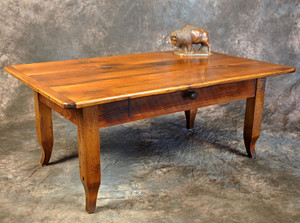 French Leg Coffee Table With Drawer