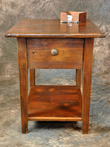 End Table With Shelf & Drawer