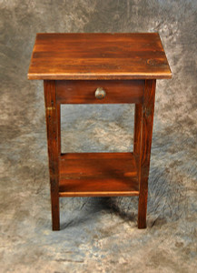 Small End Table With Drawer & Shelf