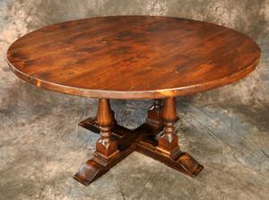 Round 4-Legged Pedestal Table