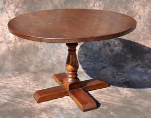Round Farmhouse Pedestal Table