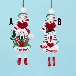I Love Grandma/I Love Grandpa Ornament