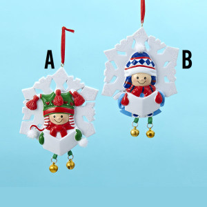 Snowflake Little Girl/Boy Personalized Ornaments