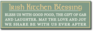 Irish Kitchen Blessing Wood Sign