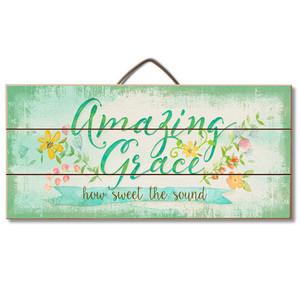 Amazing Grace Wood Slatted Sign
